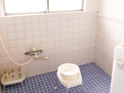 バスルームはシャワーのみ